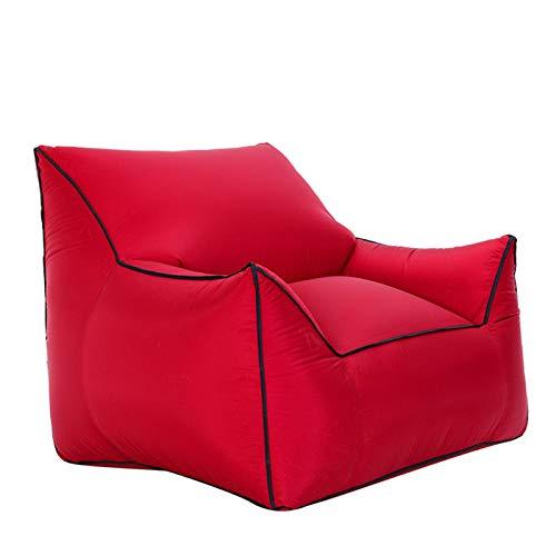 Wsaman Tragbare Aufblasba Klappbar Riesen Luftsofa Liege, Faul Sofa wasserdichte Couch mit Kopfstütze Nylonmaterial für das Wohnzimmer Schlafzimmer,9
