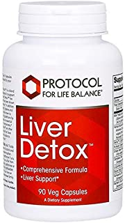 Protocol For Life Balance - Liver Detox Support - with Milk Thistle Extract, Antioxidant Formula to Support The Liver, Str...