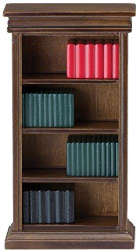 Puppenhaus Miniatur Arbeitszimmer Möbel Walnuss Bücherregal Mit Bücher