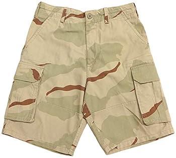 Tri-Color Desert Camo Vintage Cargo Shorts  X-Large