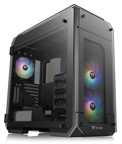 Thermaltake View 71 Motherboard Sync ARGB 4-Sided Tempered Glass Vertical GPU Modular E-ATX Gaming Full Tower Computer Case with 3 140mm 5V Motherboard Sync ARGB Fans Pre-installed CA-1I7-00F1WN-03