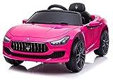 giordanoshop Macchina Elettrica per Bambini 12V Maserati Ghibli Rosa