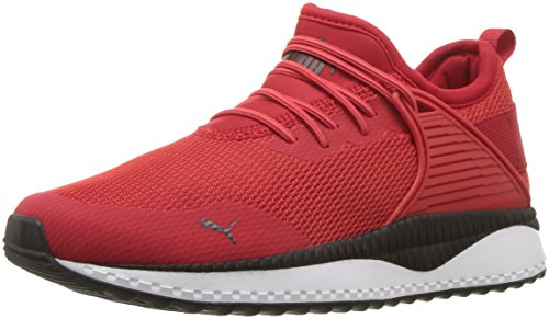 PUMA baby boys Pacer Next Cage Slip on Sneaker, High Risk Red/Black, 8 Toddler US