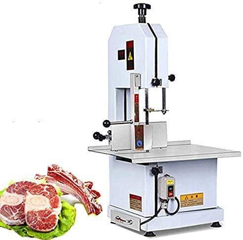 CGOLDENWALL 1600W Stainless steel High Power bone sawing machine meat cutting machine Commercial table bone chopper cutting Fish Pig's hoof Beef bone Frozen meat Safety protection switch (110V)