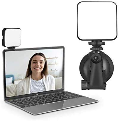 Video Conference Lighting Kit,Light for Laptop MacBook Video Conferencing,Zoom Meeting Calls, Self Broadcasting, Live Streaming, Stronger Suction with 2 Tapes