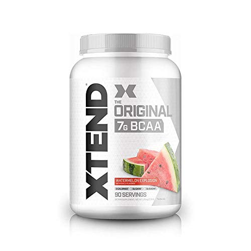 XTEND Original BCAA Powder Watermelon Explosion - Sugar Free Post Workout Muscle Recovery Drink with Amino Acids - 7g BCAAs for Men & Women - 90 Servings