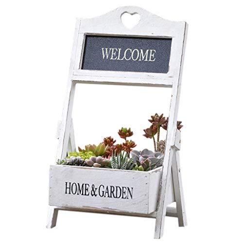 CATRP Marque Support De Fleurs En Bois Mini Balcon Pliable Installation Au Sol Support De Jardin Extérieur Rétro Présentoir De Fleurs