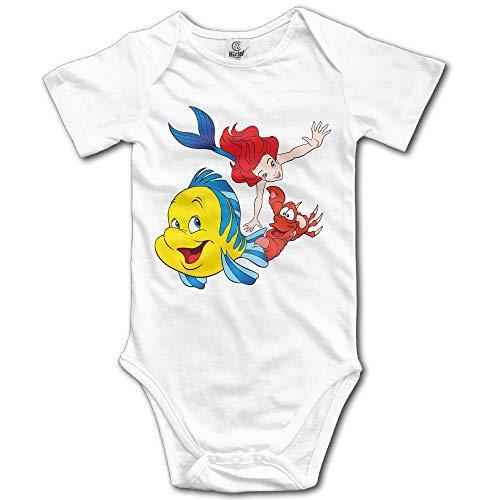 RuiShuoPiCao Ariel The Little Mermaid Kids Short Sleeve Bodysuit Snapsuit
