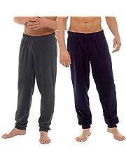 INSIGNIA 2-pack herr fleece manschett pyjamas lounge byxor underdel