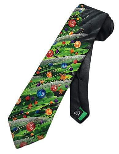 Jerry Garcia Mens Christmas Necktie - Green Red Black - Thin One Size Neck Tie
