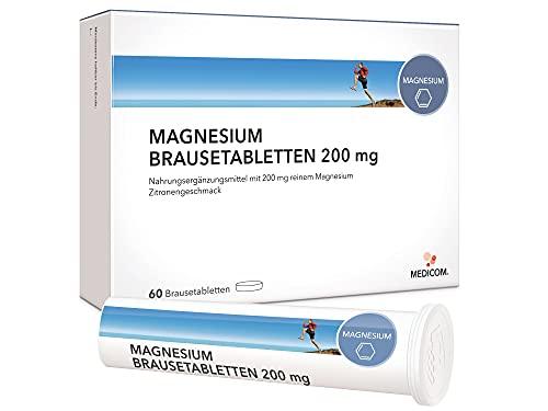 MEDICOM NOBILIN Magnesium 60 Brausetabletten – VEGAN – 200 mg reines Magnesiumcarbonat mit fruchtigem Zitronengeschmack • 2-Monatsvorrat • Bekannt aus Ihrer APOTHEKE