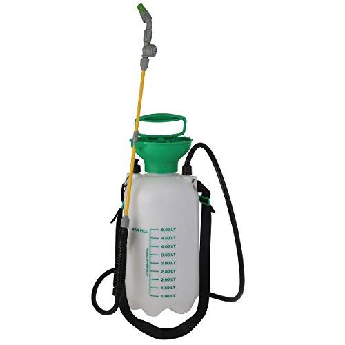 Xclou Drucksprüher 5 l - Gartenspritze für Dünger - Drucksprühgerät verstellbarer Strahl - Giftspritze für Garten - Profi Rückenspritze mit Schultergurt