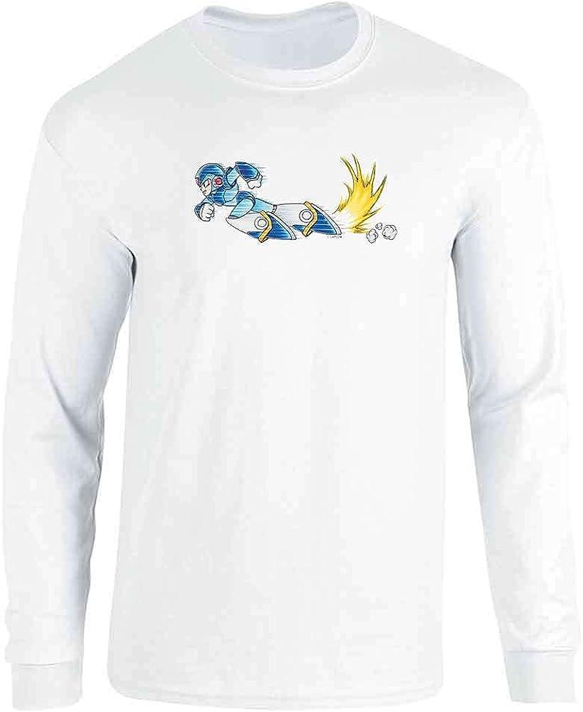 Mega Man X Armor Leg Parts Dash Megaman Video Game Full Long Sleeve Tee T-Shirt