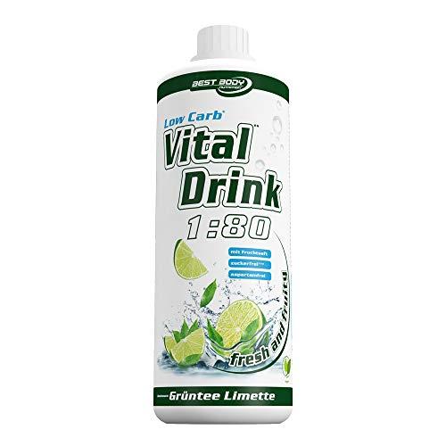 Best Body Nutrition Vital Drink Grüntee-Limette, Getränkekonzentrat, 1000 ml Flasche