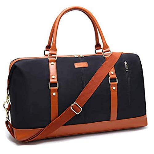 Weekend Bags for Women,Large Travel Carry On Duffel Tote Bag Overnight Flight Bag Canvas Travel Holdall Handbags