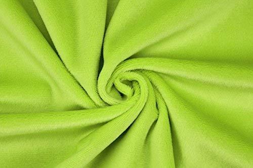 kullaloo Microfaser-Plüsch Stoff Shorty als Meterware in vielen Farben - 1,5mm Florlänge, EN71-3 & EN 71-9 Zertifiziert (hellgrün), 1 Stoffeinheit = 50 cm x 150 cm (Länge x Breite) ä