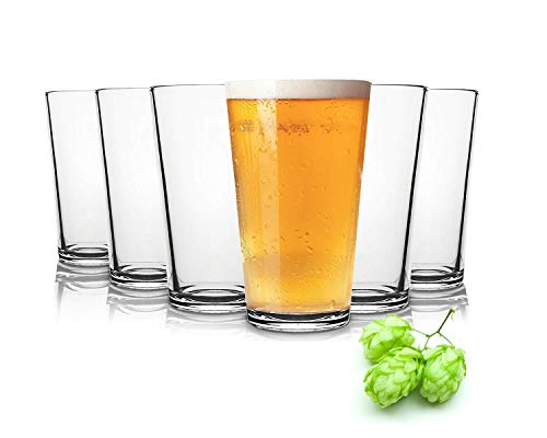 Tivoli Liverpool Bicchieri di Birra- 490 ml - Set da 6 - Bicchieri di Alta qualità - Lavabili in Lavastoviglie - Bicchieri in Cristallo