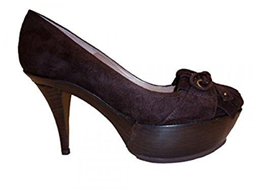 Pura Lopez Damen Pumps r331-27-490 Dunkelbraun Größe 37