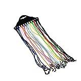 12 PCS Gafas de Sol Gafas de Sol Nylon Cordón Cuerda Cuerda Strap Strap Soporte para Láyecto Gafas Gafas Retenedor Lentes Cuerda Nuevo para Deportes Femeninos (Color : Random Color)