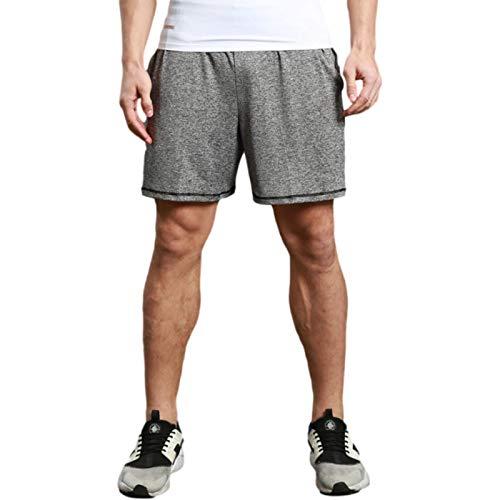 Pantalones Cortos Deportivos para Correr para Hombre Verano Casual Entrenamiento físico Pantalones Cortos de Secado rápido Cintura elástica con Bolsillos M