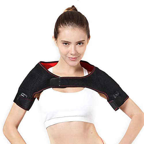 ZWPY Electric Heating Pad for Shoulders, with Far Infrared Heating, Heated Shoulder Support Brace for Relieving Fatigue and Relieve Joint Pain