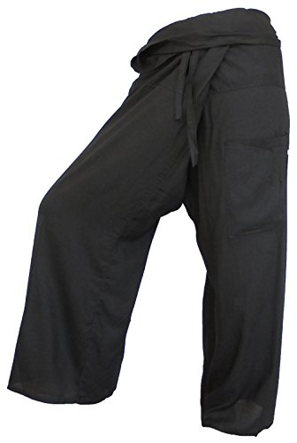 Guru-Shop - Pantalón - para mujer Negro negro talla única