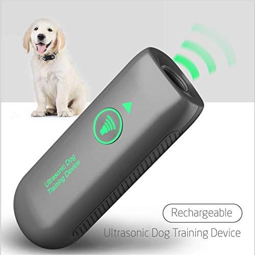 Queenmew Anti-Bell-Mittel für Hunde, Ultraschall Anti-Bell-Gerät für Hunde Bellkontrolle 100{218ec6c31fe36adc38ec9a956ef756f95a2c1883fcb9f4927f716b239bdabd2f} Sicher, Wiederaufladbarer Handheld Trainingsgerät für Hunde, 5 Meter Regelbereich Freien und Innen