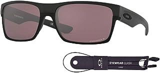 Oakley Twoface OO9189 918926 60M Matte Black/Prizm Daily Polarized Sunglasses For Men+BUNDLE with Oakley Accessory Leash Kit