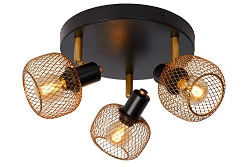 Lucide Maren - Lámpara de techo (3 bombillas E14, latón mate)