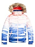Roxy Jet Ski-Chaqueta para Nieve para Chicas 8-16, Niñas, Mid Denim Yumi Yamada Print, 14/XL
