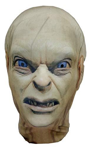 Mask Horrors Gollum Sméagol Hobbit - Máscara de Cabeza Completa, Disfraz de Halloween