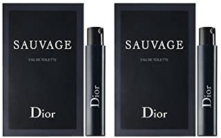 2 Dior Sauvage Eau De Toilette for Men Sample Vial 1 Ml/0.03 Oz