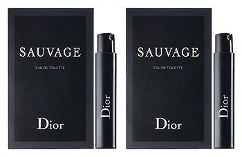 2 Dior Sauvage Eau De Toilette for Men Sample Vial 1 Ml/0.03 Oz