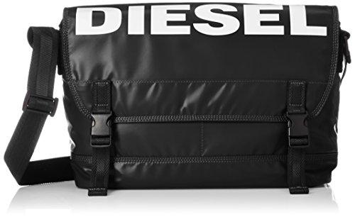 Diesel Unisex-Erwachsene X05480 Kuriertasche, Schwarz (Black), 26x42x34 centimeters