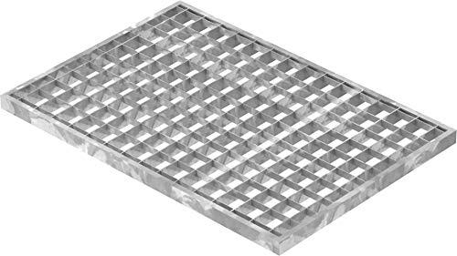 Fenau | Gitterrost/Baunorm-Rost Maße: 340 x 490 x 20 mm - MW: 30 mm / 30 mm (Vollbad-Feuerverzinkt) (Passend für Zarge: Fenau 350 x 500 x 23 mm) Industrie-Norm-Rost für Lichtschacht