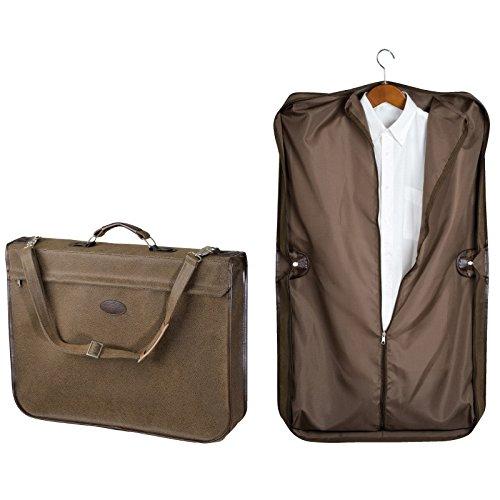 Grande valigia porta abiti con maniglia e tracolla