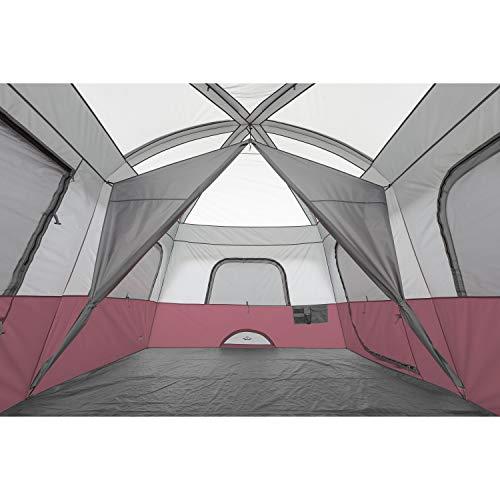 Core 10 Person Straight Wall Cabin Tent (Wine)
