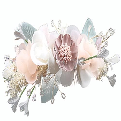 VOSAREA Blume Blumen Hochzeit Braut Haarkamm Haarteile Haarschmuck Vintage Hochzeit Braut Diademe Haarschmuck Ornamente