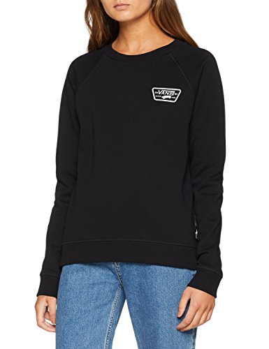 Vans Damen Full Patch Raglan Crew Sweatshirt, Schwarz (Black Blk), Large
