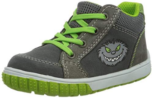 Lurchi Baby Jungen BEO Sneaker, Grau (Grey Green 25), 20 EU