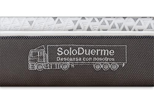 SoloDuerme - Colchón para camión Hispano Trucks - Un colchón de viscoelástica, Firme y Adaptable. Transpirable y Antideslizante. Desenfundable. (Colchón con forma Especial, 80 cm Ancho * 200 cm Largo)