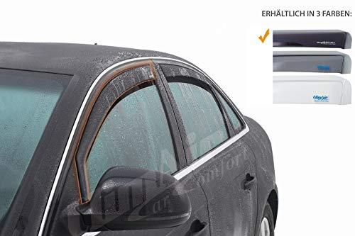 Vordere Windabweiser (1 Set) für die Fahrer und Beifahrerseite-CLS0033665D kompatibel zu VW AMAROK TYP 2H, Pickup, 2/4-Door, 2009- Dunkles Material