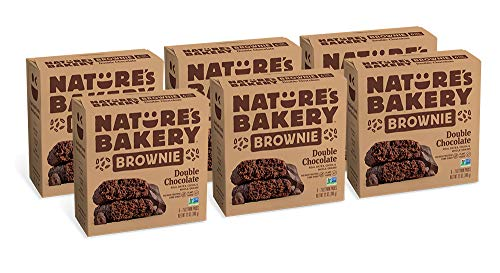 Nature's Bakery Whole Wheat Fig Bars, Double Chocolate Brownie, Real Fruit, Vegan, Non-GMO, Snack...