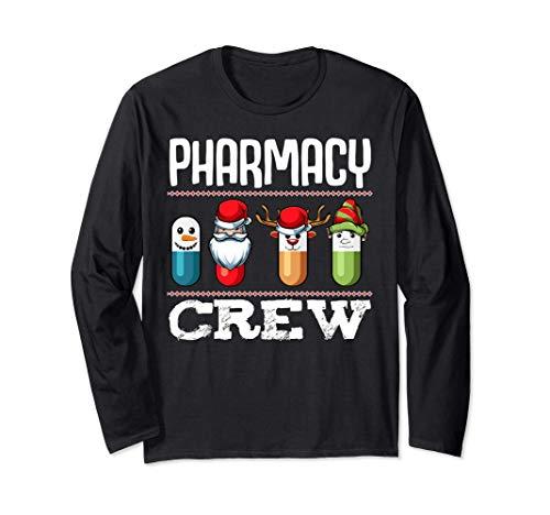 Farmacia Crew Pills Farmacutico de Navidad Medicina Manga Larga