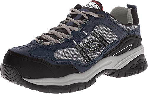 Skechers Men s Work Relaxed Fit Soft Stride Grinnel Comp, Navy Gray - 13 E US