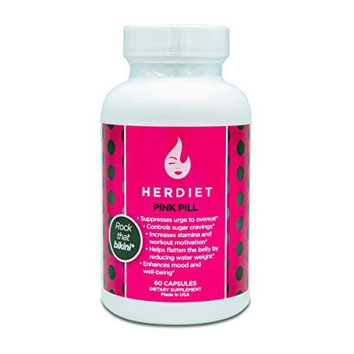 HER DIET Pink - Weight Loss Pills for Women - Thermogenic Fat Loss Supplement - Increased Energy - Appetite Suppressant - Prevent Overeating - Curb Cravings