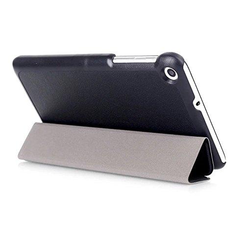 Kepuch Custer Huawei Mediapad T1 7.0 / T2 7.0 Hülle - Shell Schutzhülle PU Tasche Smart Case Cover für Huawei Mediapad T1 7.0 / T2 7.0 - Schwarz - 6