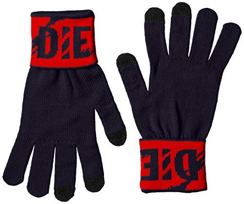 Diesel Herren Handschuhe, K-SCREEX GLOVE, Feinstrick, Jacquard, Logo, L, XL Marine L (Gr. Large)