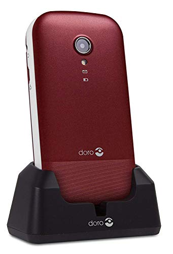 "Doro 2404 2.4"" 100g Rojo, Blanco Característica del teléfono - Teléfono móvil (Concha, SIM Doble, 6,1 cm (2.4""), 0,3 MP, 1000 mAh, Rojo, Blanco)"