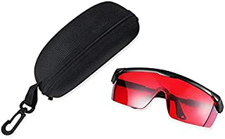VIQILANY Laser Eye Protection Safety Glasses for Red and UV Lasers with Case (Red)